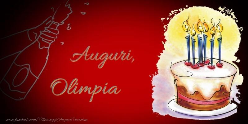 Cartoline di auguri - Auguri, Olimpia