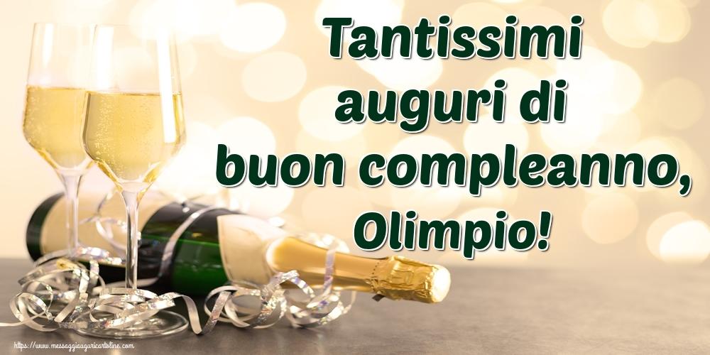 Cartoline di auguri - Tantissimi auguri di buon compleanno, Olimpio!