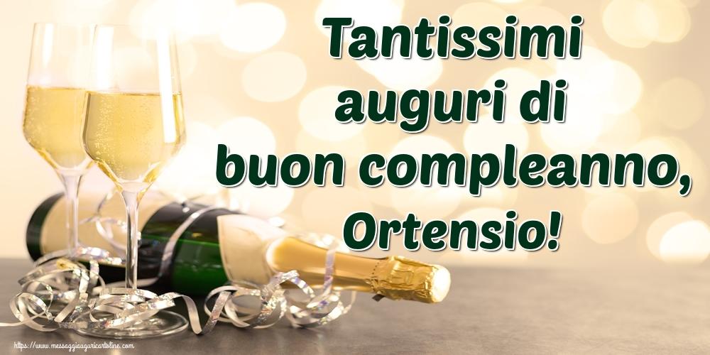 Cartoline di auguri - Tantissimi auguri di buon compleanno, Ortensio!
