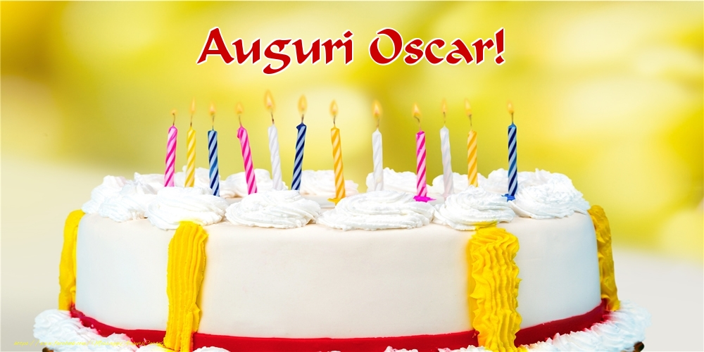 Cartoline di auguri - Auguri Oscar!