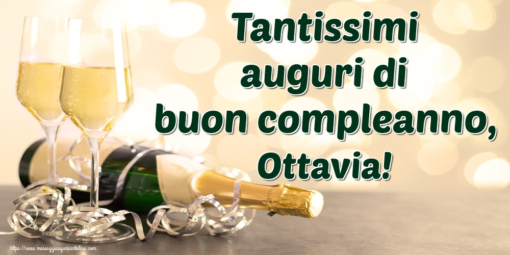 Cartoline di auguri - Tantissimi auguri di buon compleanno, Ottavia!