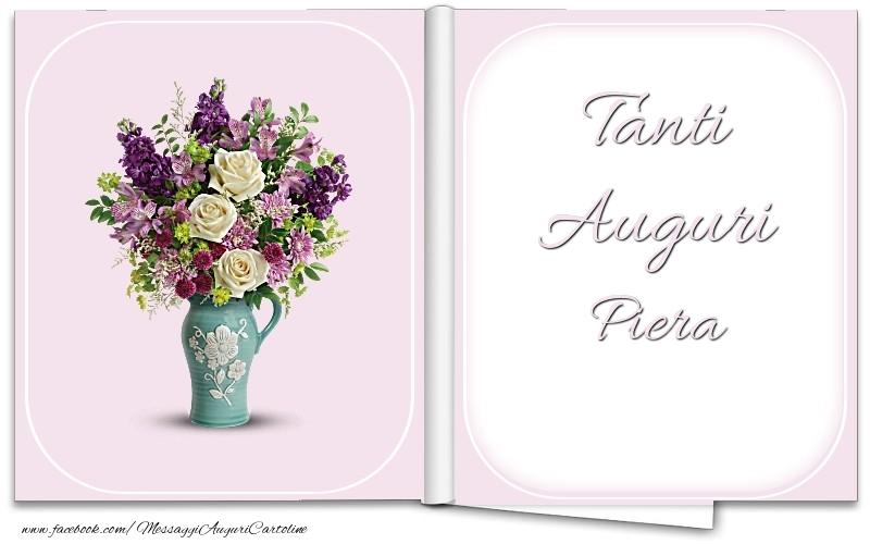 Cartoline di auguri - Tanti Auguri Piera
