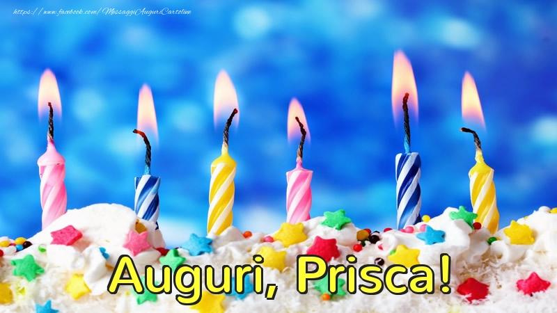 Cartoline di auguri - Auguri, Prisca!
