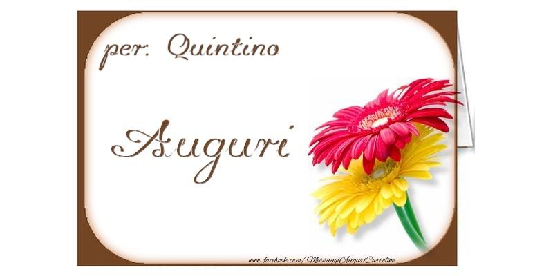 Cartoline di auguri - Auguri, Quintino