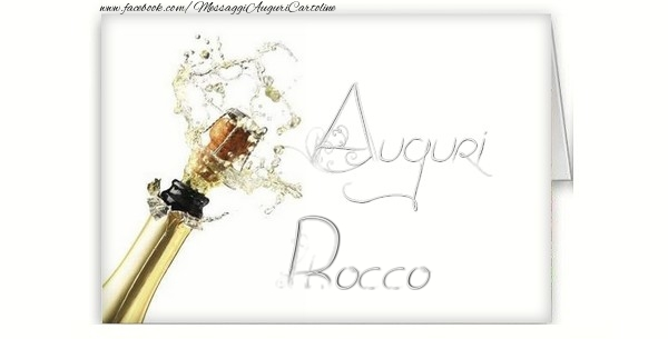 Cartoline di auguri - Auguri, Rocco