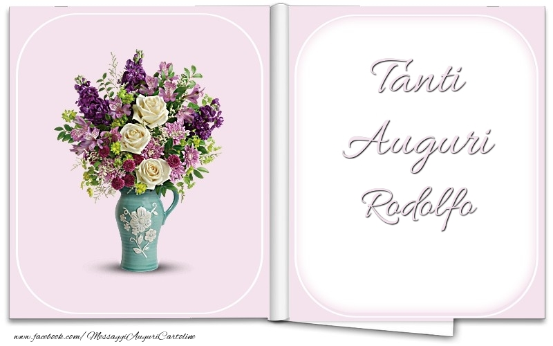 Cartoline di auguri - Tanti Auguri Rodolfo