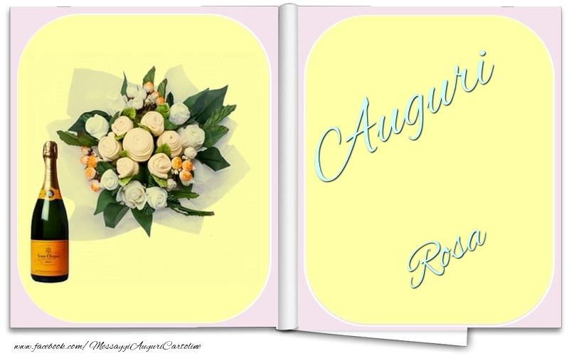 Cartoline di auguri - Auguri Rosa