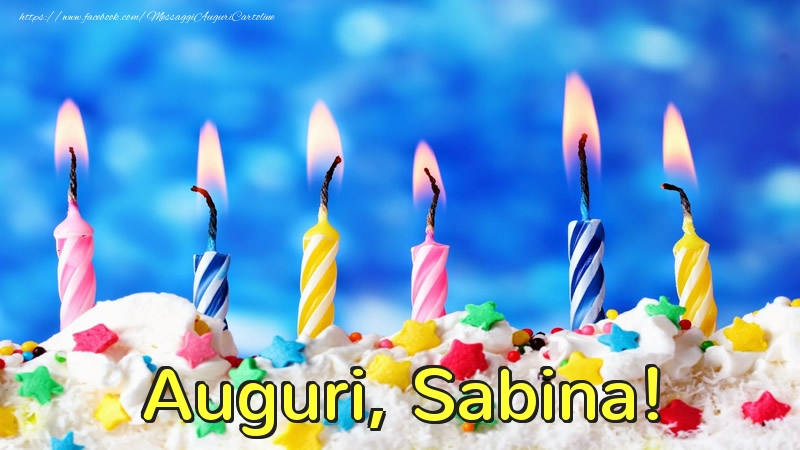 Cartoline di auguri - Auguri, Sabina!