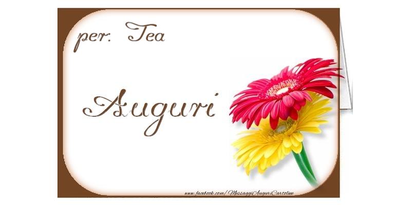 Cartoline di auguri - Auguri, Tea