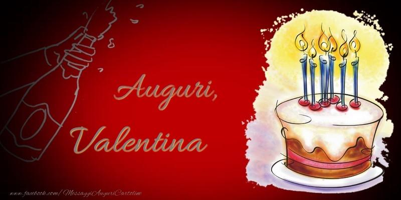 Cartoline di auguri - Auguri, Valentina