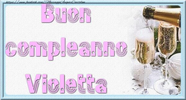 Biglietti Auguri Compleanno Di Violetta.Buon Compleanno Violetta Cartoline Di Auguri Per Violetta