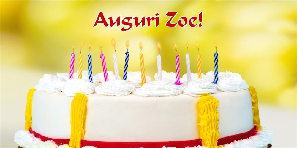 Cartoline di auguri - Auguri Zoe!