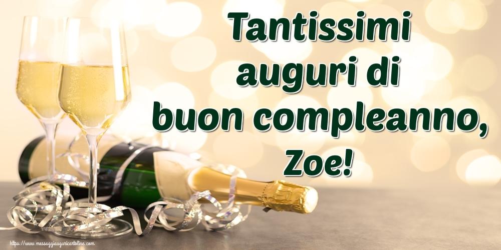 Cartoline di auguri - Tantissimi auguri di buon compleanno, Zoe!