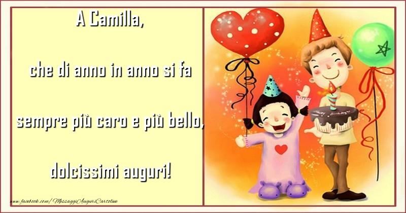 Cartoline per bambini - che di anno in anno si fa sempre più caro e più bello, dolcissimi auguri! Camilla