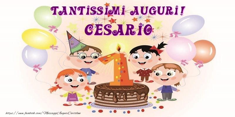 Cartoline per bambini - Tantissimi Auguri! Cesario