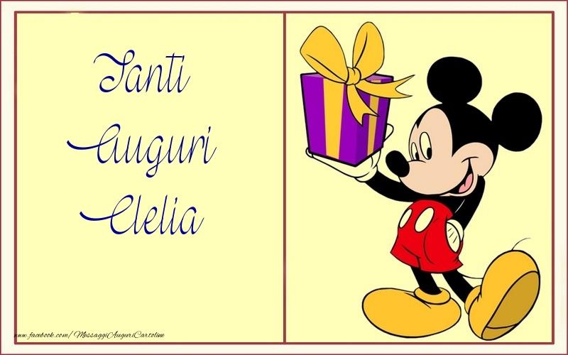 Cartoline per bambini - Tanti Auguri Clelia