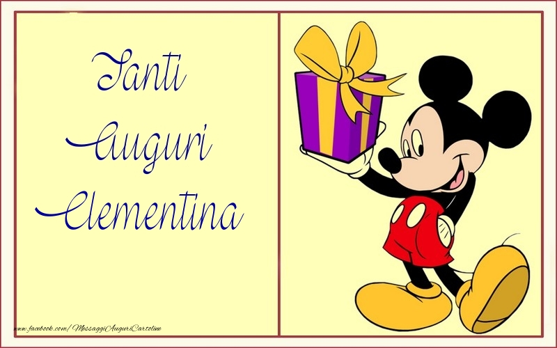 Cartoline per bambini - Tanti Auguri Clementina