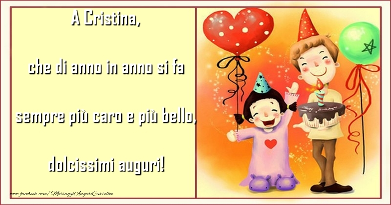 Cartoline per bambini - che di anno in anno si fa sempre più caro e più bello, dolcissimi auguri! Cristina