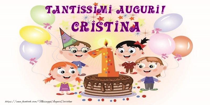Cartoline per bambini - Tantissimi Auguri! Cristina