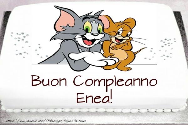 Cartoline per bambini - Torta Tom e Jerry: Buon Compleanno Enea!