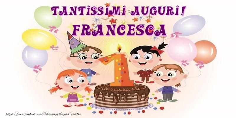 Ben noto Tantissimi Auguri! Francesca - Cartoline per bambini per Francesca  KE46