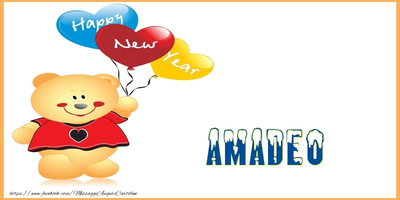 Cartoline di Buon Anno - Happy New Year Amadeo!