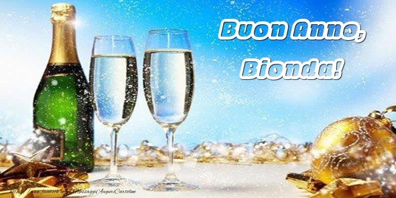 Cartoline di Buon Anno - Buon Anno, Bionda!