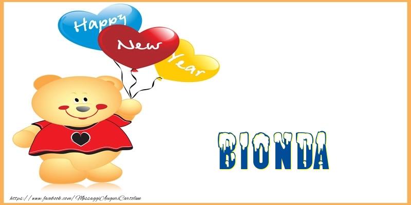 Cartoline di Buon Anno - Happy New Year Bionda!