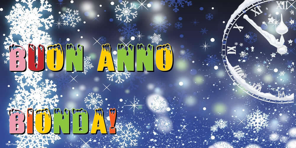 Cartoline di Buon Anno - Buon Anno Bionda!