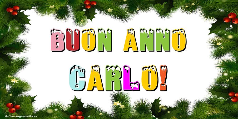 Cartoline di Buon Anno - Buon Anno Carlo!