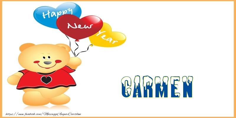 Cartoline di Buon Anno - Happy New Year Carmen!