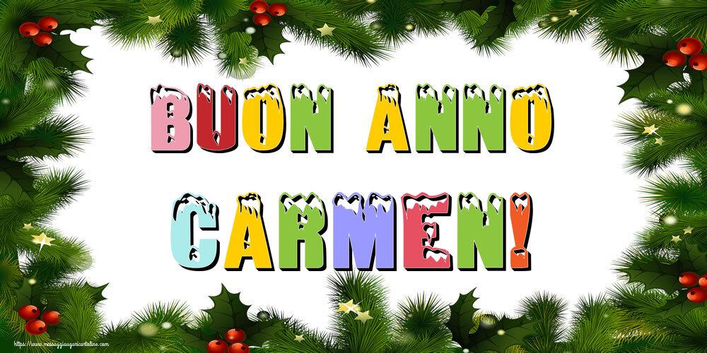 Cartoline di Buon Anno - Buon Anno Carmen!