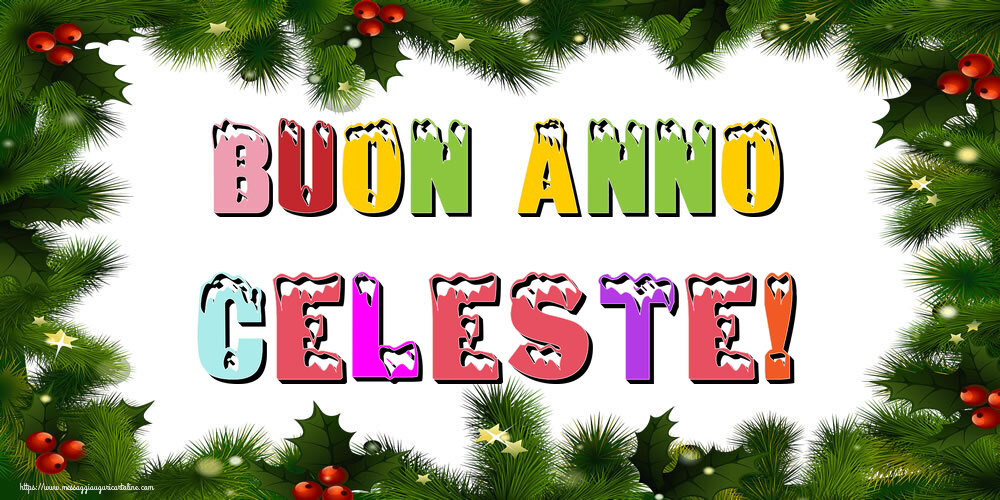 Cartoline di Buon Anno - Buon Anno Celeste!
