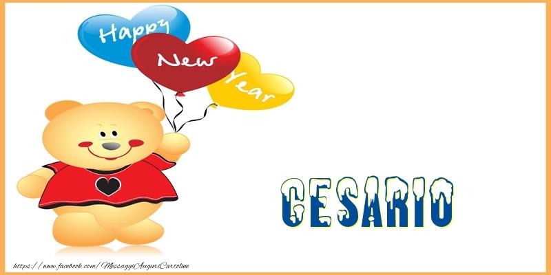 Cartoline di Buon Anno - Happy New Year Cesario!
