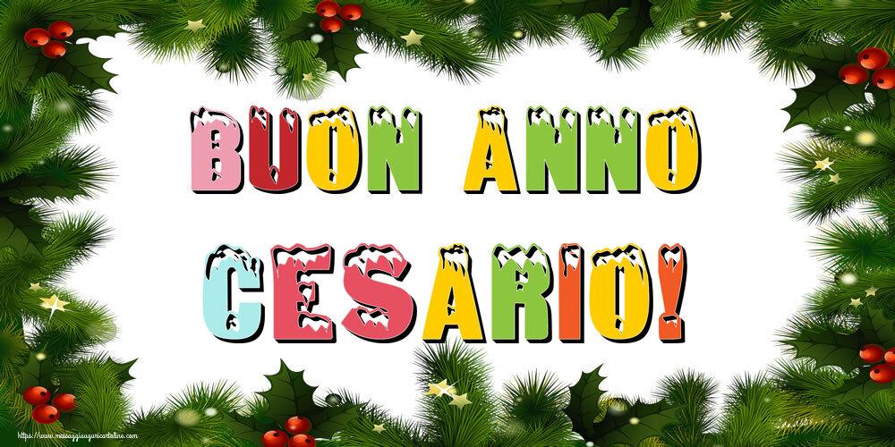 Cartoline di Buon Anno - Buon Anno Cesario!