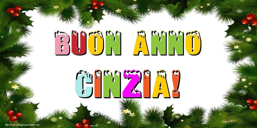 Cartoline di Buon Anno - Buon Anno Cinzia!