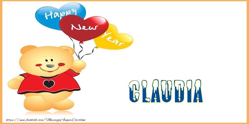 Cartoline di Buon Anno - Happy New Year Claudia!