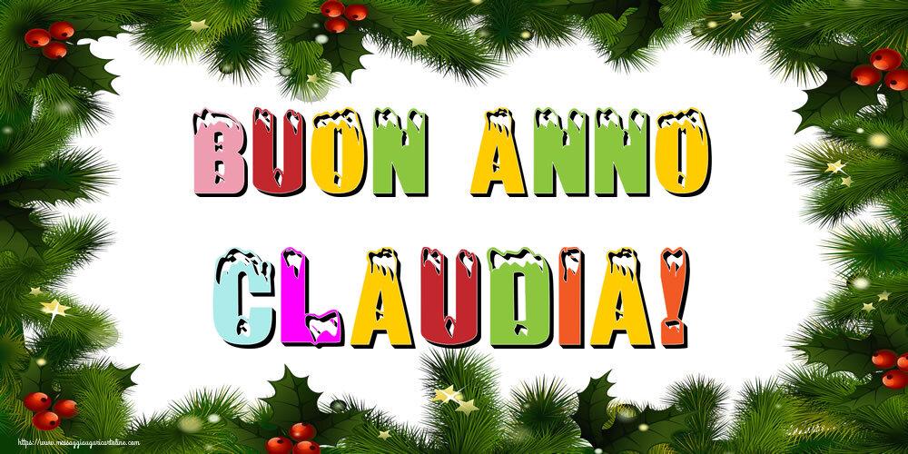 Cartoline di Buon Anno - Buon Anno Claudia!