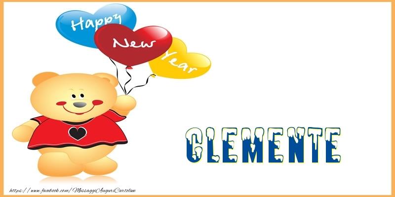 Cartoline di Buon Anno - Happy New Year Clemente!
