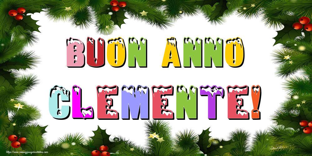 Cartoline di Buon Anno - Buon Anno Clemente!