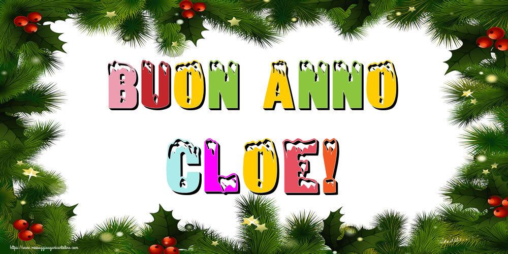 Cartoline di Buon Anno - Buon Anno Cloe!