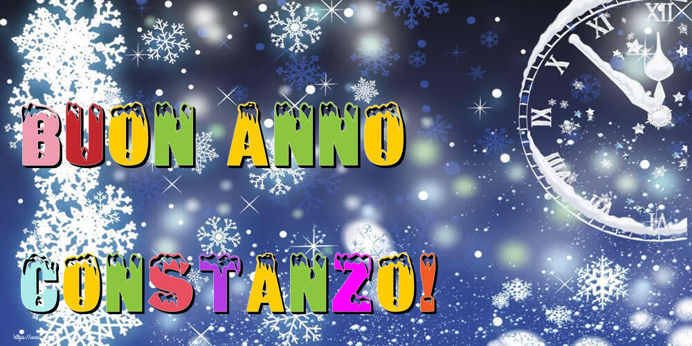 Cartoline di Buon Anno - Buon Anno Constanzo!