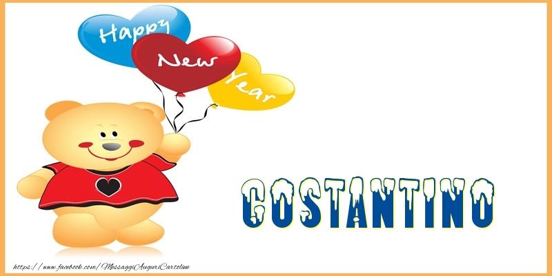 Cartoline di Buon Anno - Happy New Year Costantino!