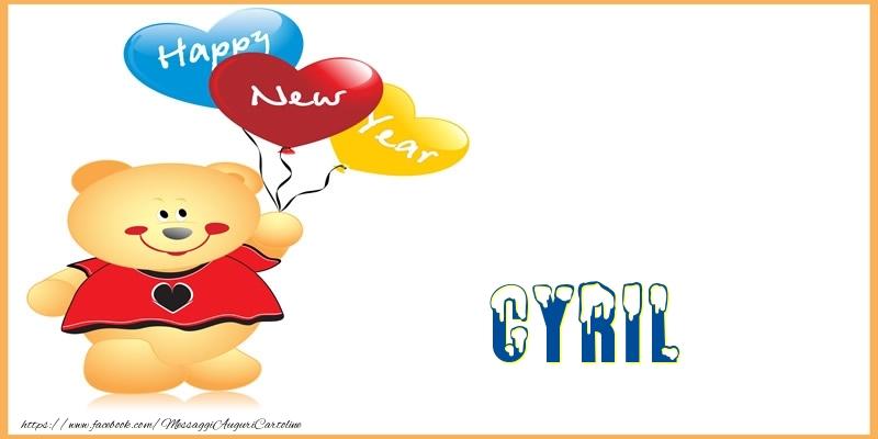 Cartoline di Buon Anno - Happy New Year Cyril!