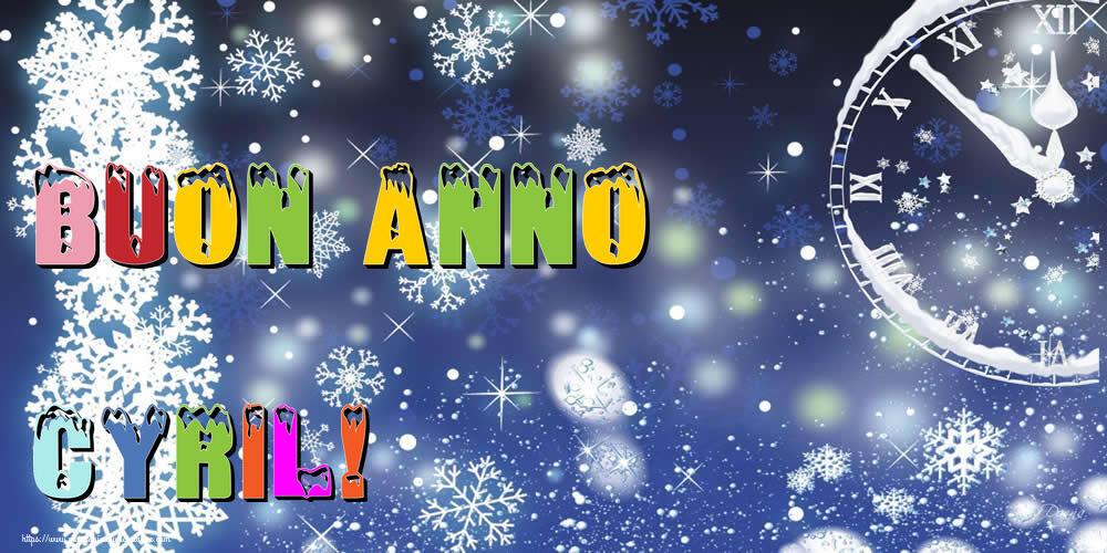 Cartoline di Buon Anno - Buon Anno Cyril!