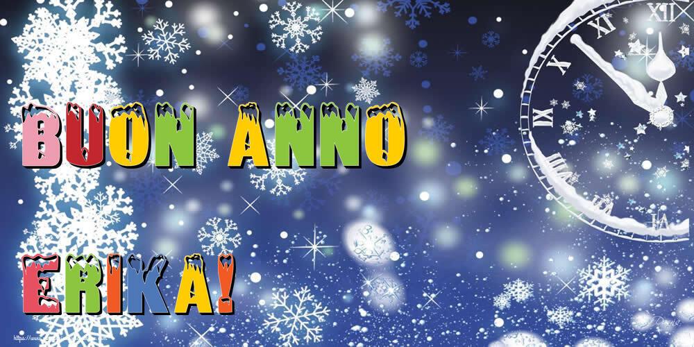 Cartoline di Buon Anno - Buon Anno Erika!