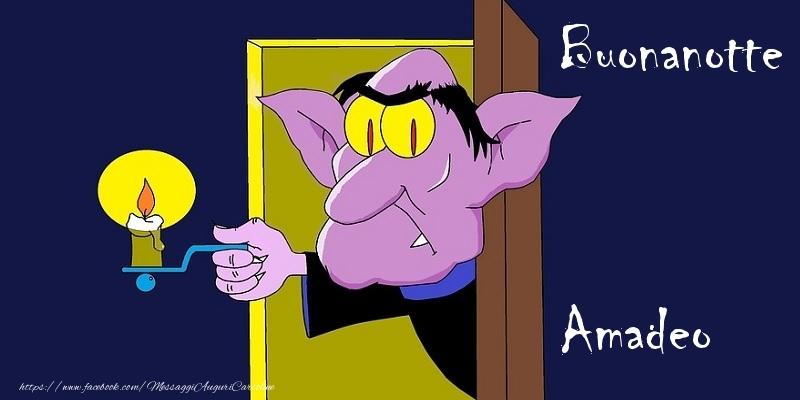 Cartoline di buonanotte - Buonanotte Amadeo
