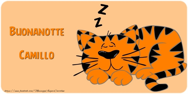 Cartoline di buonanotte - Buonanotte Camillo