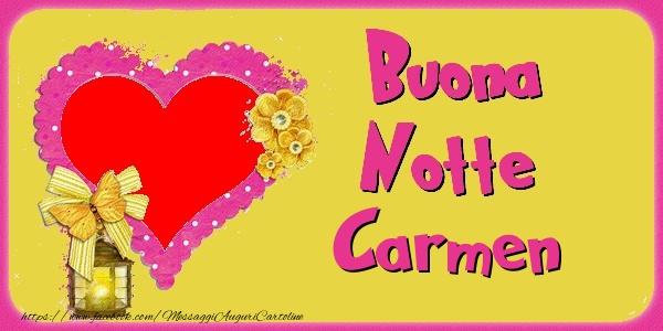Cartoline di buonanotte - Buona Notte Carmen