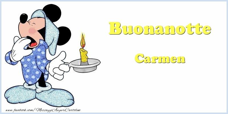 Cartoline di buonanotte - Buonanotte Carmen
